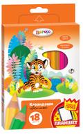 Купить Limpopo Набор цветных карандашей Джунгли 18 шт, Карандаши