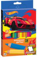 Купить Mattel Набор цветных карандашей Hot Wheels 18 шт, Карандаши