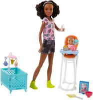Купить Barbie Игровой набор с куклой Няня, Куклы и аксессуары