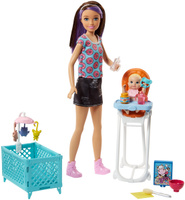 Купить Barbie Игровой набор с куклой Няня FHY97_FHY98, Куклы и аксессуары