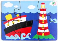 Купить Фабрика Мастер игрушек Пазл для малышей Кораблик 6 элементов, Обучение и развитие