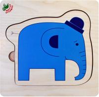 Купить Фабрика Мастер игрушек Рамка-вкладыш Слоники, Обучение и развитие
