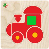 Купить Фабрика Мастер игрушек Рамка-вкладыш Пирамидка-паровозик, Обучение и развитие