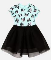 Купить Платье для девочки Acoola Meda, цвет: бирюзовый, черный. 20220200234_9000. Размер 98, Одежда для девочек