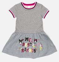 Купить Платье для девочки Acoola Inga, цвет: светло-серый. 20220200237_1800. Размер 98, Одежда для девочек