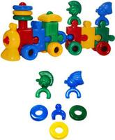 Купить СВСД Паровоз с индейцами 1 вагон, Строим вместе счастливое детство (СВСД), Развивающие игрушки