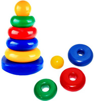 Купить СВСД Пирамида-качалка Квадрат, Строим вместе счастливое детство (СВСД), Развивающие игрушки
