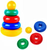 Купить СВСД Пирамида-качалка Круг, Строим вместе счастливое детство (СВСД), Развивающие игрушки