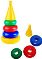 Купить СВСД Пирамида-качалка Круг 5097, Строим вместе счастливое детство (СВСД), Развивающие игрушки