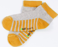 Купить Носки детские Mark Formelle, цвет: серый, оранжевый. 404C-314_B4-6404C. Размер 31/33, Одежда для девочек