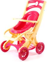 Купить Doloni Коляска для кукол прогулочная цвет фуксия бежевый, Куклы и аксессуары