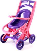 Купить Doloni Коляска для кукол прогулочная цвет розовый фиолетовый, Куклы и аксессуары