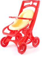 Купить Doloni Коляска для кукол прогулочная цвет красный бежевый, Куклы и аксессуары