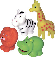 Купить ПОМА Набор игрушек для ванной Путешествие по Африке 4 шт, Первые игрушки