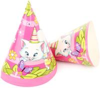 Купить Веселый хоровод Набор колпаков Розовая Фантазия 20 см 6 шт KL40954, Колпаки и шляпы