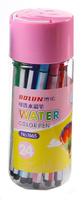 Купить Набор фломастеров Смайл цвет упаковки розовый 24 цвета 2870485, Noname, Фломастеры