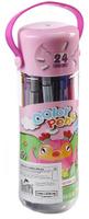 Купить Набор фломастеров Сова цвет упаковки розовый 24 цвета 2870477, Noname, Фломастеры