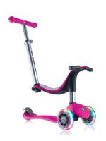Купить Самокат Globber Evo 4 In 1 Lights , со светящимися передними колесами, цвет: розовый, Самокаты
