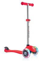 Купить Самокат Globber Primo Lights , со светящимися передними колесами, цвет: красный, Самокаты