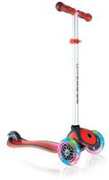 Купить Самокат Globber Primo Plus Lights , со светящимися передними колесами, цвет: красный, Самокаты