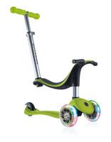 Купить Самокат Globber Evo 4 In 1 Lights , со светящимися передними колесами, цвет: зеленый, Самокаты