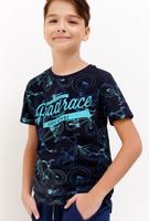 Купить Футболка для мальчика Acoola, цвет: темно-синий. 20110110090_600. Размер 134, Одежда для мальчиков