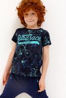 Купить Футболка для мальчика Acoola, цвет: темно-синий. 20120110091_600. Размер 92, Одежда для мальчиков