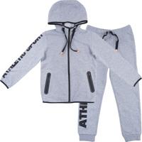 Купить Комплект для мальчика PlayToday Sport: толстовка, брюки, цвет: серый. 180001. Размер 128, Одежда для мальчиков