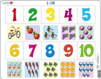 Купить Larsen Пазл для малышей От 1 до 10 вид 2, Larsen/Ларсен, Обучение и развитие