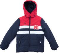 Купить Куртка для мальчика PlayToday, цвет: темно-синий, красный, белый. 181001. Размер 128, Одежда для мальчиков