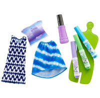 Купить Barbie Игровой набор с куклой Crayola Сделай моду сам цвет голубой сиреневый салатовый, Куклы и аксессуары