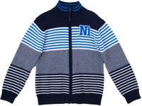 Купить Кардиган для мальчика PlayToday, цвет: темно-синий, голубой, белый. 181006. Размер 128, Одежда для мальчиков