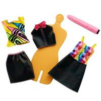Купить Barbie Игровой набор с куклой Crayola Раскрась наряды, Куклы и аксессуары