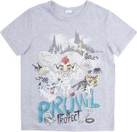 Купить Комплект для мальчика PlayToday: футболка, шорты, цвет: голубой, светло-серый. 681151. Размер 128, Одежда для мальчиков