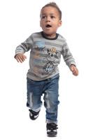 Купить Футболка с длинным рукавом для мальчика PlayToday, цвет: серый, белый. 187020. Размер 80, Одежда для новорожденных