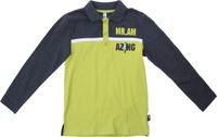 Купить Поло для мальчика PlayToday, цвет: серый, зеленый. 181065. Размер 128, Одежда для мальчиков