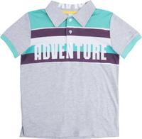 Купить Поло для мальчика PlayToday, цвет: серый. 181159. Размер 128, Одежда для мальчиков