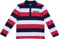 Купить Поло для мальчика PlayToday, цвет: темно-синий, белый, красный. 181016. Размер 128, Одежда для мальчиков