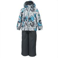 Купить Комплект верхней одежды детский Huppa Yoko 1: куртка, брюки, цвет: серый. 41190114-82248. Размер 122, Одежда для девочек