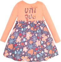 Купить Платье для девочки Let's Go, цвет: персиковый. 8127. Размер 122, Одежда для девочек