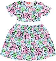 Купить Платье для девочки Let's Go, цвет: бирюзовый, розовый. 8129. Размер 122, Одежда для девочек