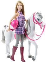 Купить Barbie Игровой набор с куклой и лошадь, Куклы и аксессуары
