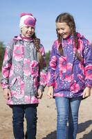 Купить Плащ для девочки Reike, цвет: серый. 40 875 500_MAQ(FL) grey. Размер 134, 9 лет, Одежда для девочек