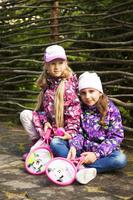 Купить Куртка для девочки Reike, цвет: фиолетовый. 40 575 111_CHR(FL) violet. Размер 110, 5 лет, Одежда для девочек
