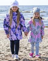 Купить Куртка для девочки Reike, цвет: серый. 40 727 120_PZL(60) grey. Размер 110, 5 лет, Одежда для девочек