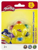 Купить Play-Doh Мелки восковые 6 цветов PDEB-US1-CRO-BL1, Мелки и пастель