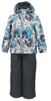 Купить Комплект верхней одежды детский Huppa Yoko: куртка, брюки, цвет: серый. 41190014-82248. Размер 104, Одежда для девочек