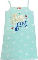 Купить Ночная рубашка для девочки Let's Go, цвет: ментоловый. 9159. Размер 140, Одежда для девочек