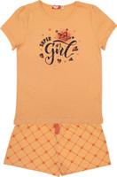 Купить Пижама для девочки Let's Go, цвет: коралловый. 9157. Размер 140, Одежда для девочек