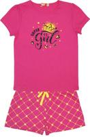 Купить Пижама для девочки Let's Go, цвет: фуксия. 9157. Размер 140, Одежда для девочек